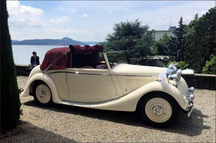 Noleggio auto d'epoca matrimonio Stresa lago Maggiore
