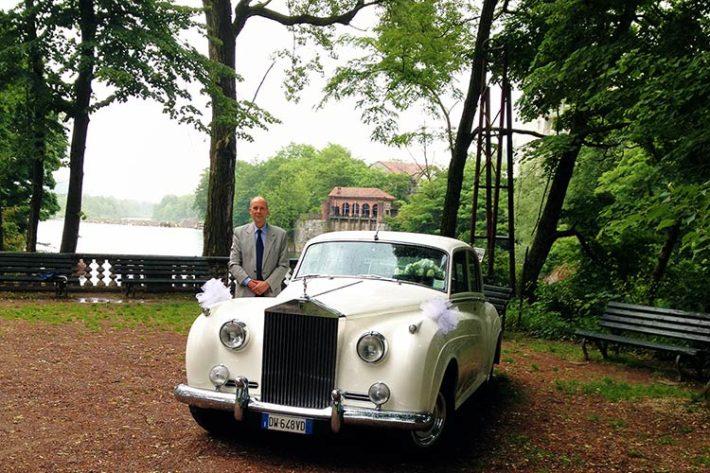 Noleggio Roll Royce matrimonio lago Maggiore