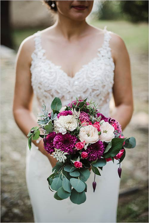 bouquet sposa in stile country chic