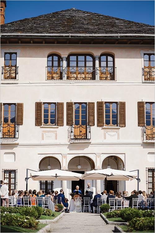 cerimonia civile a Villa Bossi