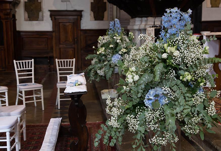 Addobbi floreali chiesa San Leonardo di Pallanza