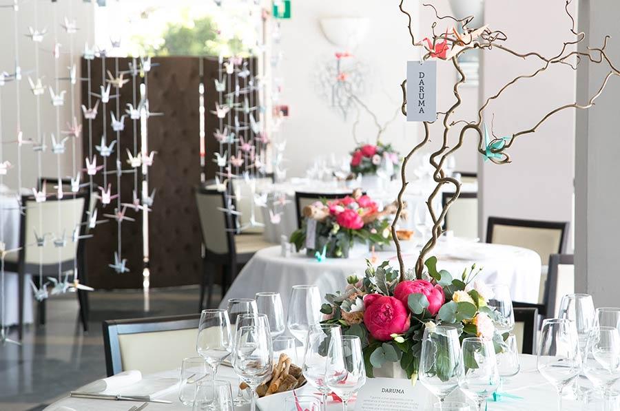 Centrotavola per matrimonio al ristorante Giardinetto