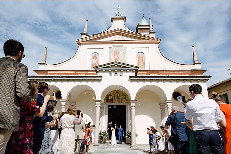 Cerimonia nuziale chiesa San Martino di Lesa, lago Maggiore