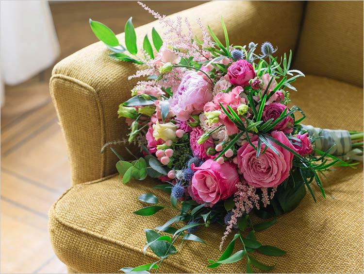 Bouquet da sposa a Villa Claudia