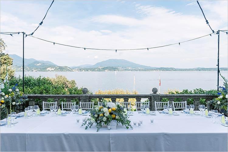 Nozze in terrazza panoramica sul Lago Maggiore