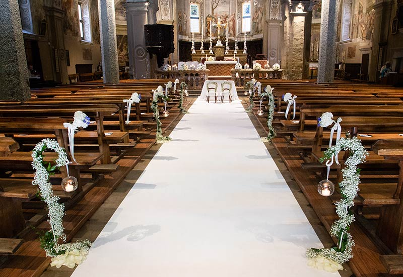 Addobbo floreale chiesa Madonna di Campagna, Verbania Pallanza