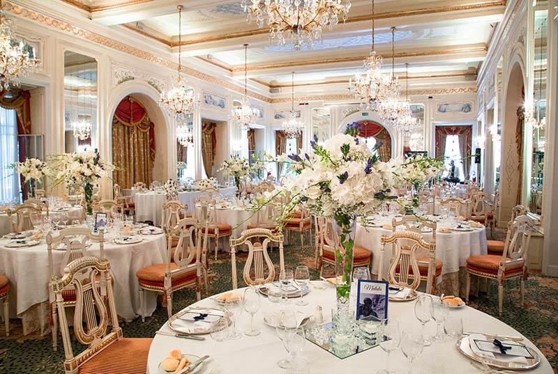 Centrotavola matrimonio al Grand Hotel Des Iles Borromees