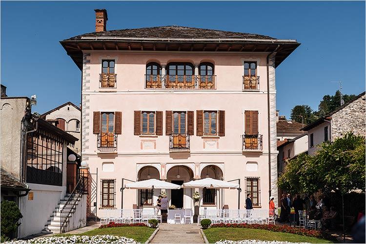 Cerimonia a Villa Bossi, lago d'Orta