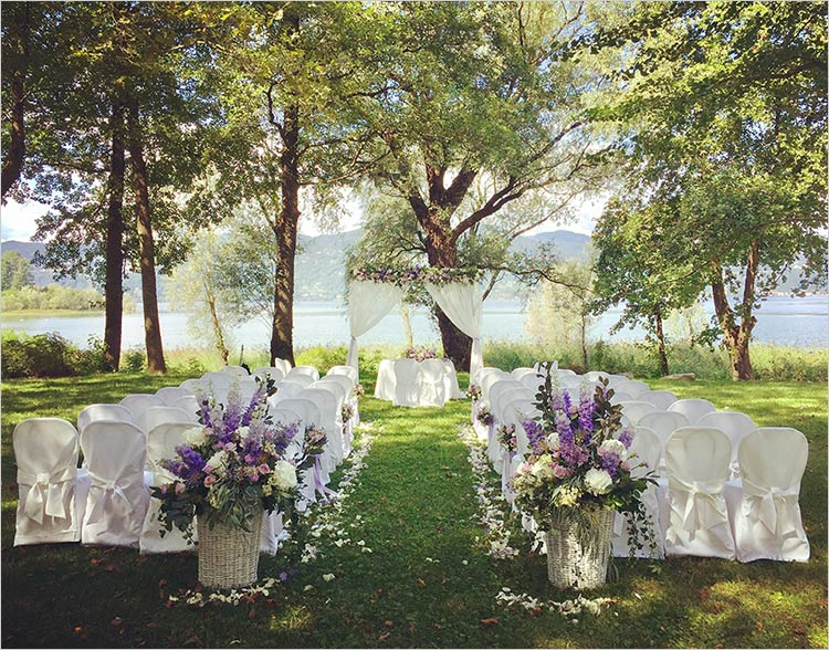 Cerimonia sul lago a Villa Rocchetta