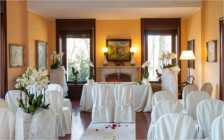 Cerimonia sala interna di Villa Rocchetta