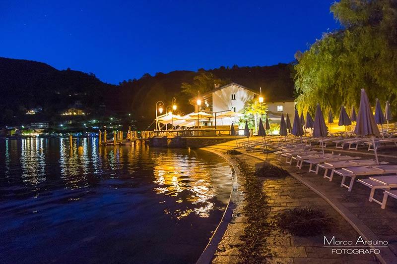 Ristorante con spiaggia sul Lago d'Orta