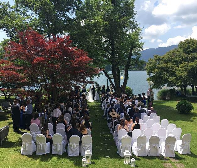 Cerimonia all'aperto sul Lago d'Orta