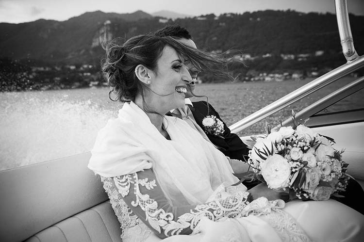 Matrimonio in motoscafo sul Lago d'Orta