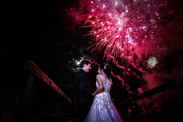 Fuochi d'artifico matrimonio Lago d'Orta